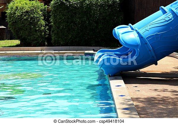 piscina, natação - csp49418104