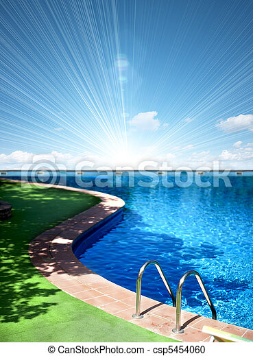 piscina, natação - csp5454060