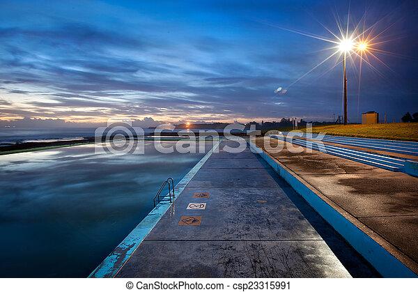 piscina, natação - csp23315991