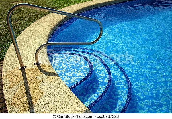 piscina, natação - csp0767328