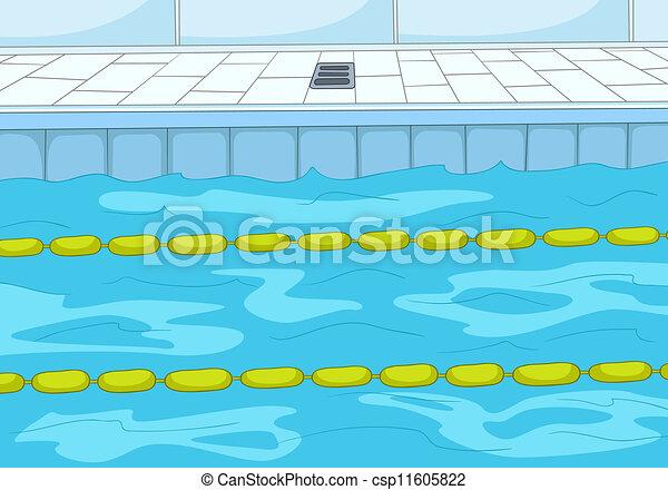 Piscine natation 10 pool eps illustration arri re - Clipart piscine ...