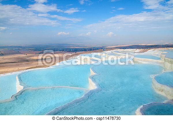 piscines, travertin, pamukkale - csp11478730