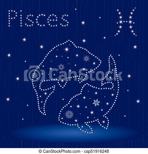 Pinzas de signo zodiaco con copos de nieve - csp51916248