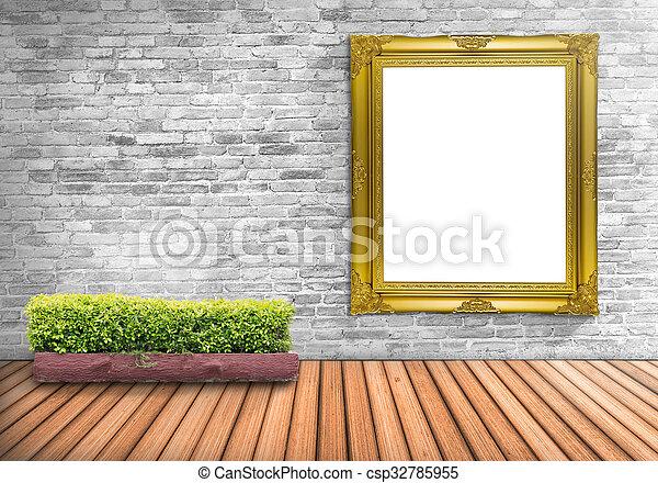 Piso, pared, marco de la foto, blanco, árbol, concreto,... imágenes ...