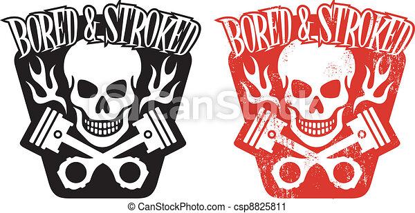 pistões, cranio - csp8825811