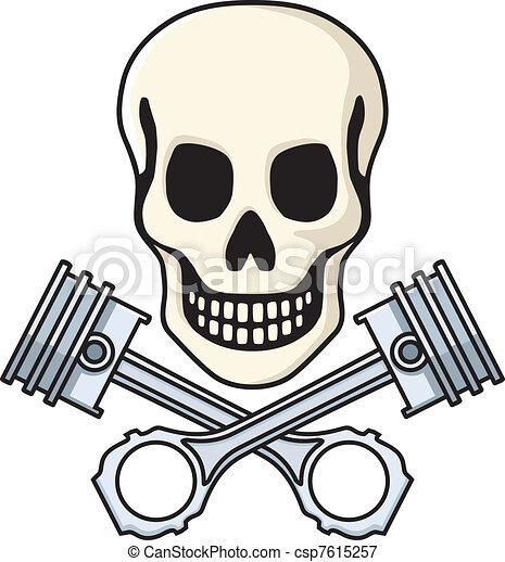 pistões, cranio - csp7615257