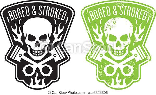 pistões, cranio - csp8825806
