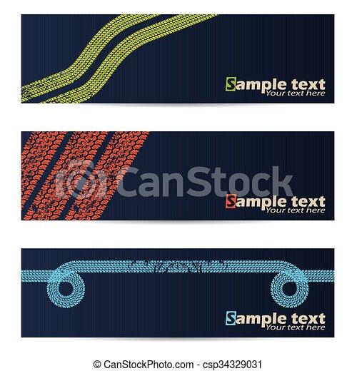 Bonitas pancartas de diseño de neumáticos - csp34329031