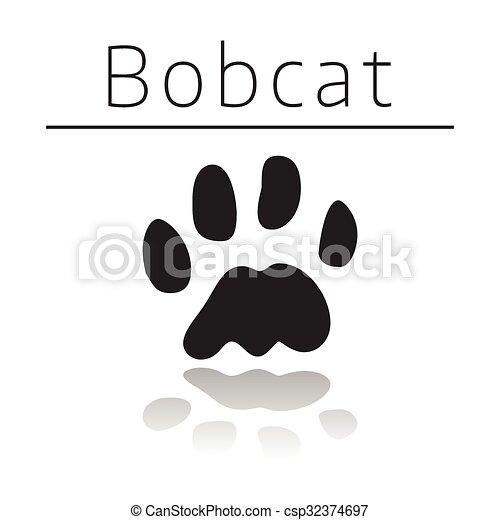 Pista de animales de Bobcat - csp32374697
