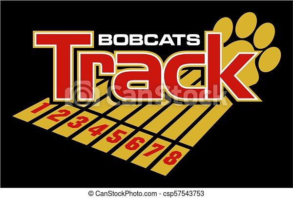 Los Bobcats rastrean - csp57543753