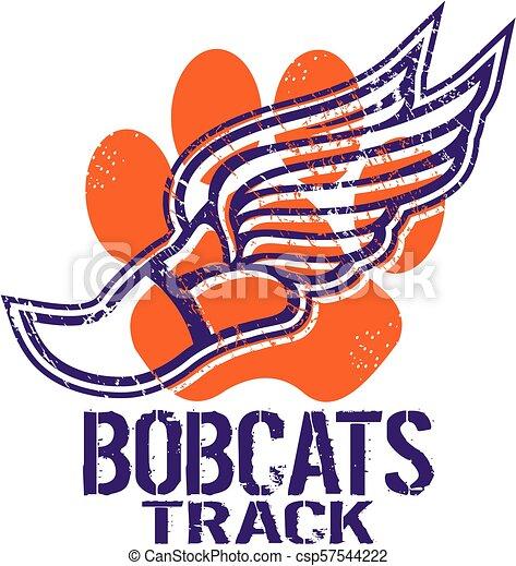 Los Bobcats rastrean - csp57544222