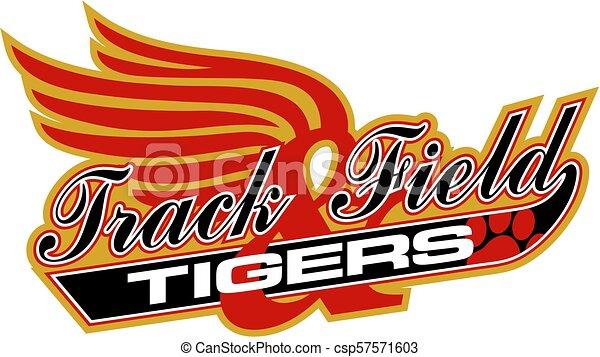 Los tigres siguen el campo - csp57571603
