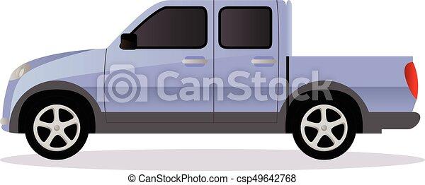 pista, car, pickup, corporal, tipo - csp49642768