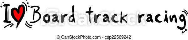 Amor de carreras de tablas - csp22569242