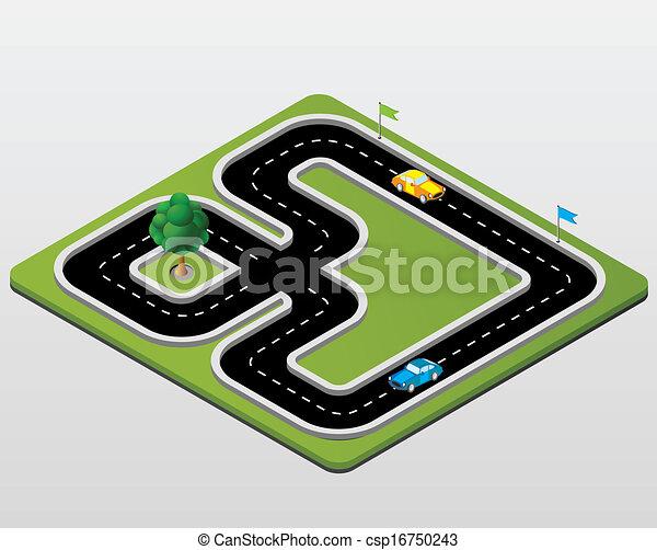 c57b713ad9 Pista, carreras. Pista, coches, carreras, árboles.
