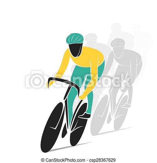 Diseño de carreras en bicicleta - csp28367629