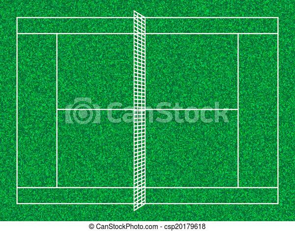 Corte de tenis - csp20179618