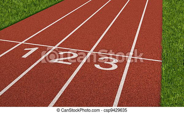 Competencia deportiva - csp9429635
