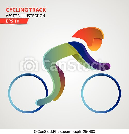 Logo deportivo de ciclismo - csp51254403