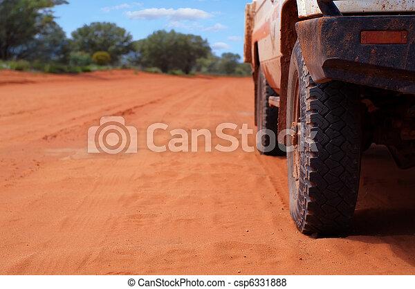 pista, outback, 4wd, arenoso - csp6331888