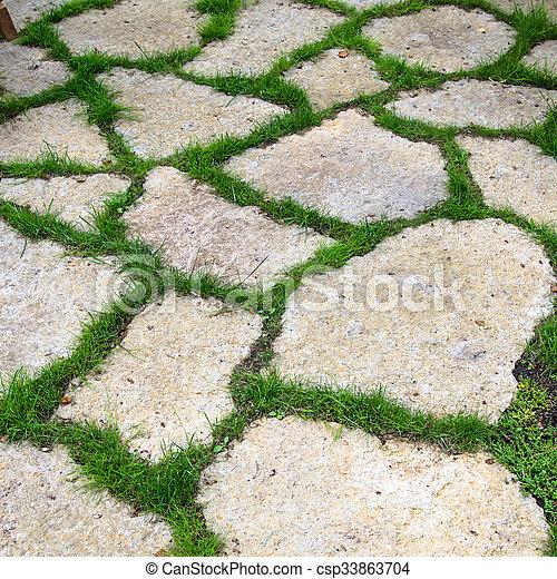 Pista pedra calc ria jardim lajes estoque de fotografia for Bancos de piedra para jardin