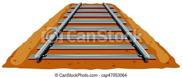 Pista de tren en el suelo - csp47053064