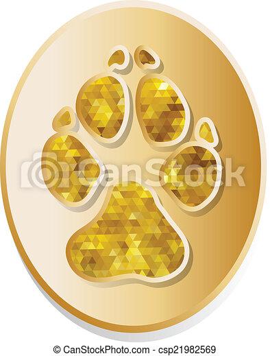 Vector de icono de perro - csp21982569