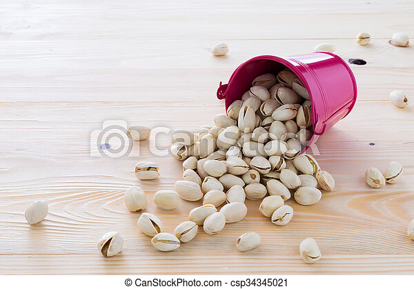 Pistachio nuts are lined - csp34345021