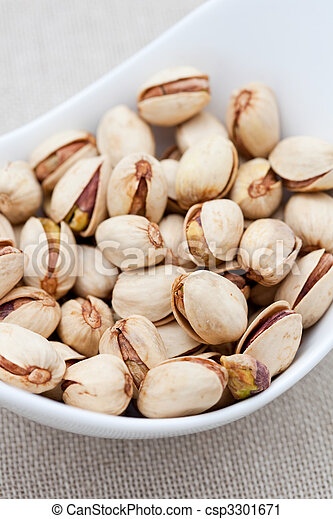 Pistachio nuts in a bowl - csp3301671