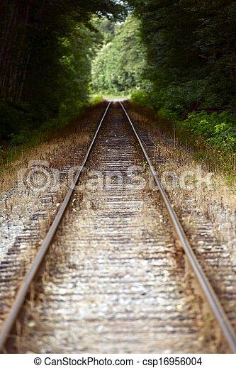 Huellas de ferrocarril - csp16956004