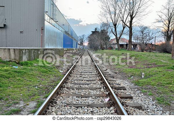 Huellas de ferrocarril - csp29843026