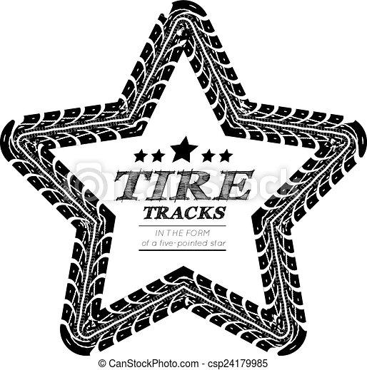 Huellas de neumáticos - csp24179985