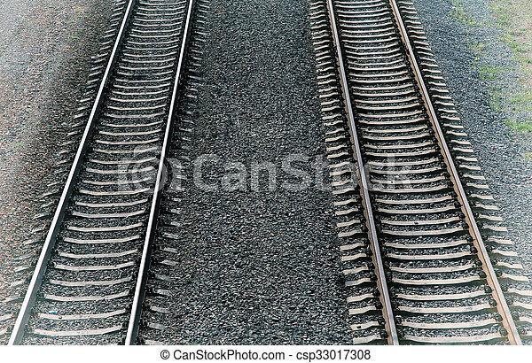 Huellas de ferrocarril, vintage - csp33017308