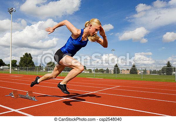 piste, athlète - csp2548040
