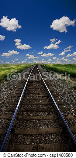 pistes, train, paysage - csp1460580