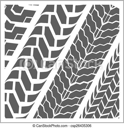 pistes, vecteur, -, ensemble, pneu - csp26435306