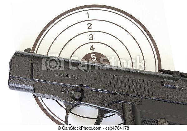 Pistol at the target - csp4764178