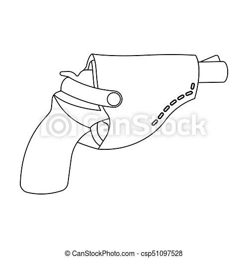 Pistol In The Holster Firearms Pistol Detective Single Icon In