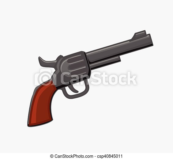 pistol vector pistol weapon vector illustration https www canstockphoto com pistol vector 40845011 html