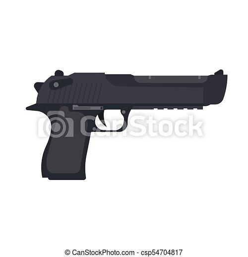 Pistola Vindima Arma Isolado Ilustracao Arma Arma De Fogo