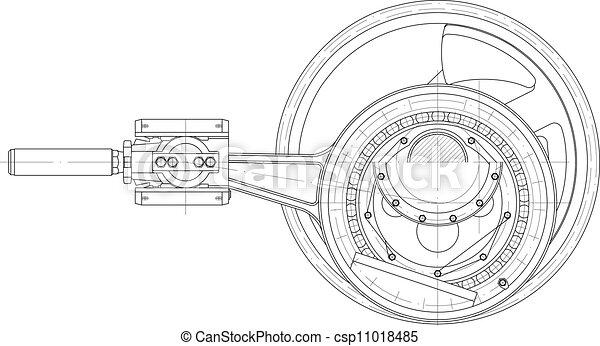 piston, pompe, conduire, mécanisme - csp11018485