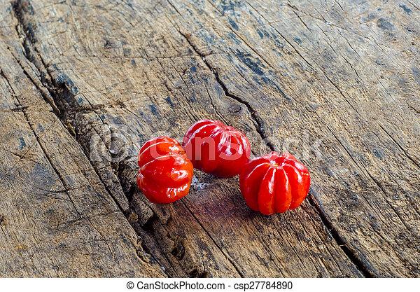 Pitanga. Brazilian cherry. - csp27784890
