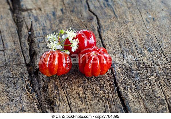 Pitanga. Brazilian cherry. - csp27784895