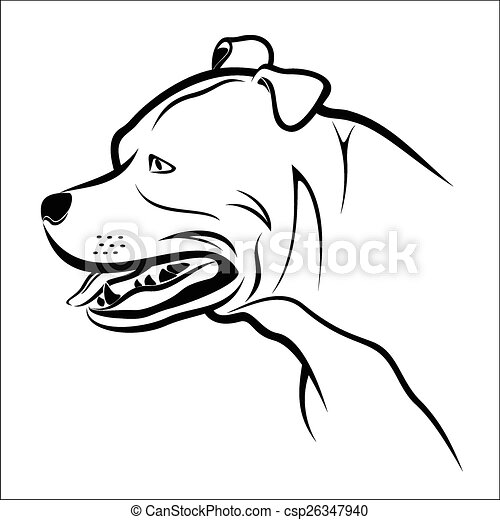 vector illustration pitbull on a white background eps vector rh canstockphoto com cute pitbull clipart pitbull clipart black and white
