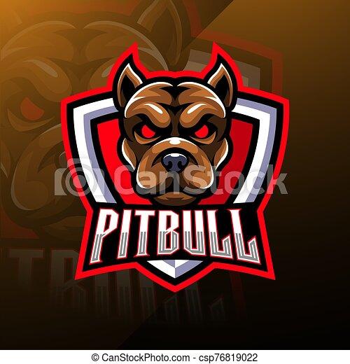 Pitbull Head esport Mascot Logo - csp76819022