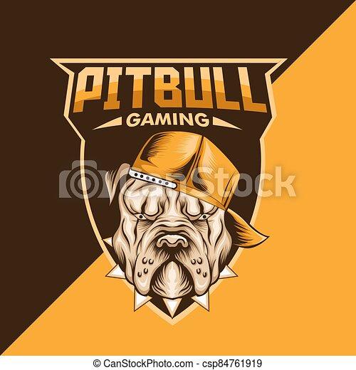 pitbull mascot logo - csp84761919