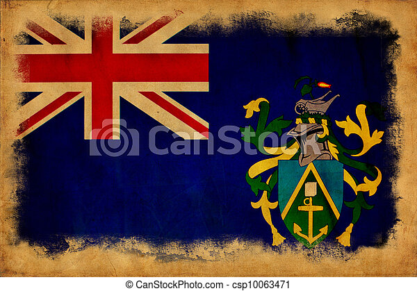 Pitcairn Islands grunge flag - csp10063471