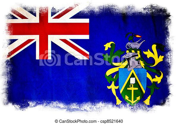 Pitcairn Islands grunge flag - csp8521640