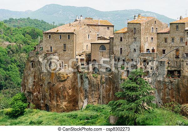 Pitigliano in Tuscany - csp8302273