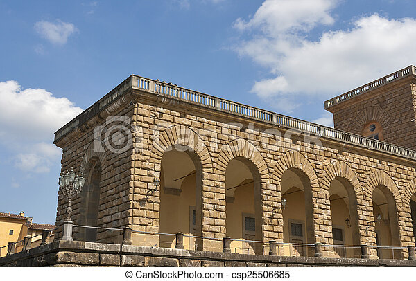 Pitti palace in Florence - csp25506685